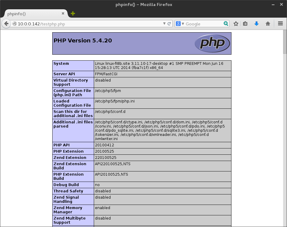Instalace PHP do LEMP v OpenSUSE