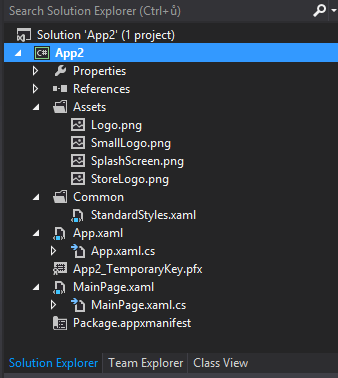 Solution explorer– Blank page