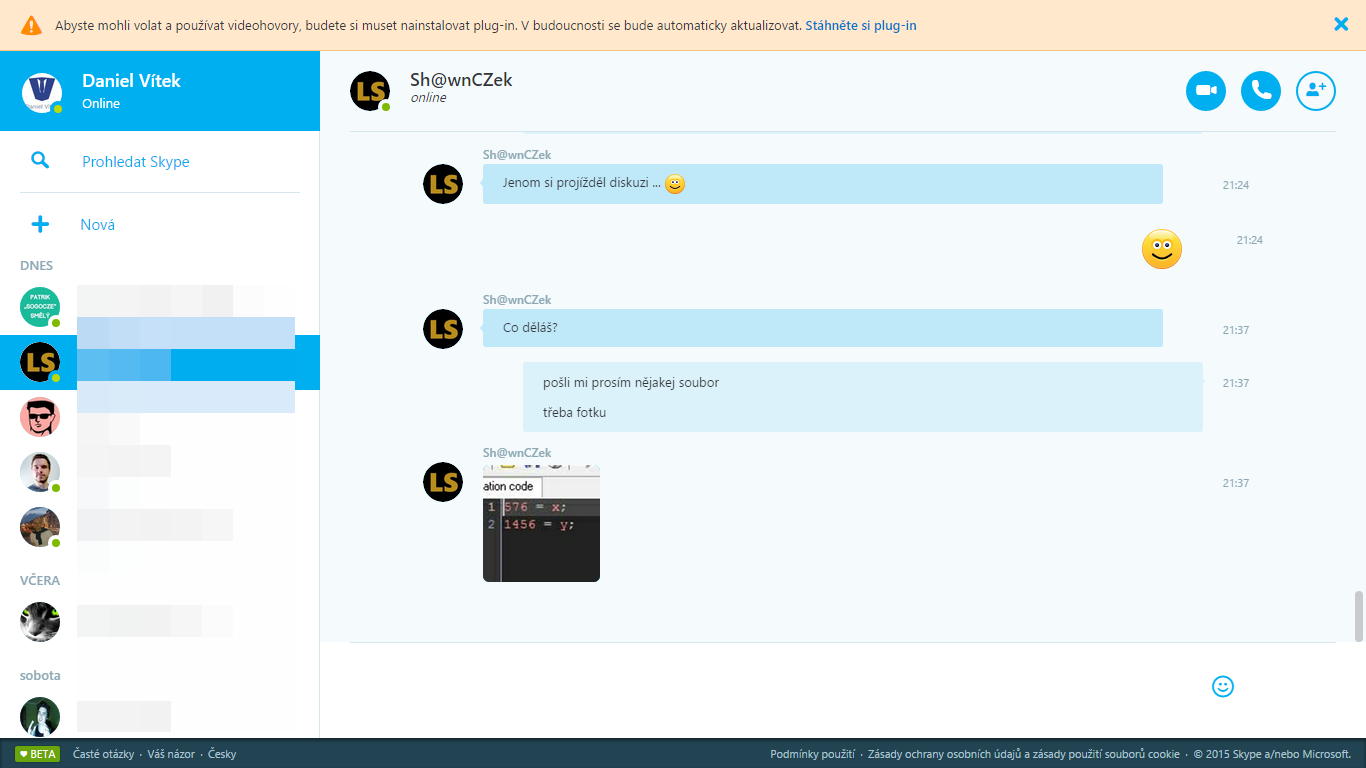 Skype online, i v ČR