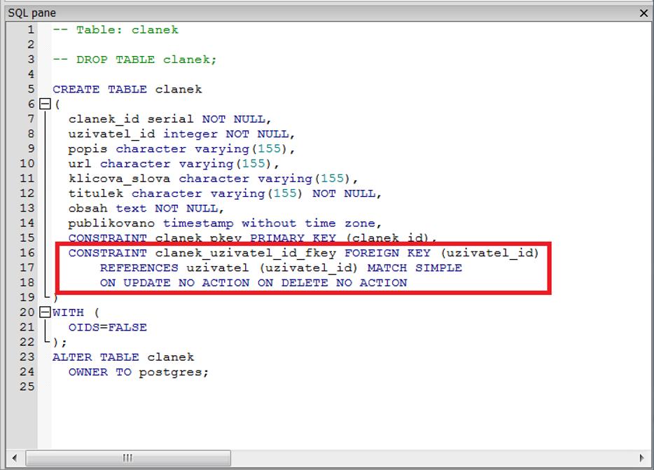 Lekce 9 - PostgreSQL: Modely databáze a vazby