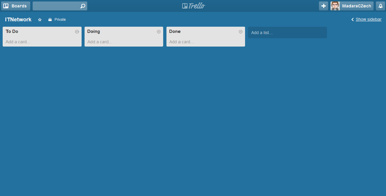 Trello boardy