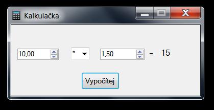 Kalkulačka vVB.NET voknu