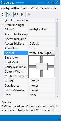 Kotvy anchors ve Visual Studio