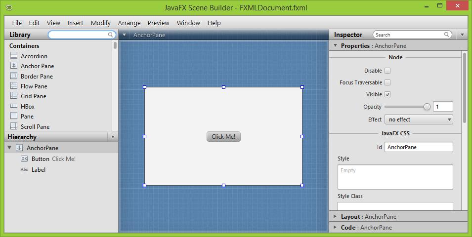 javafx scene builder download java 8