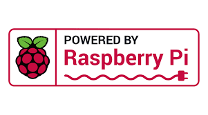 Logo powered by raspberry