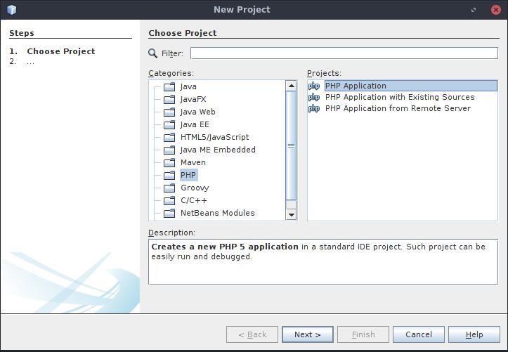 Vytvoření PHP Nette projektu