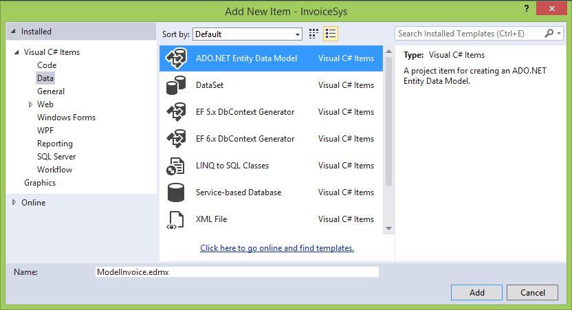 Entity Framework vC# .NET