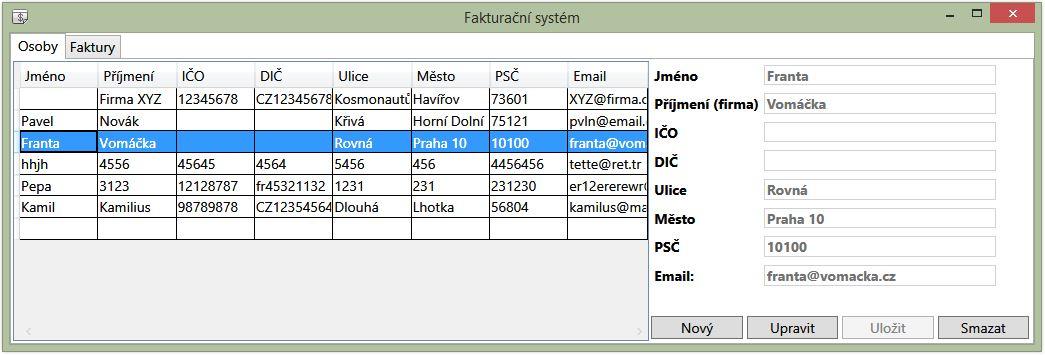 Fakturační systém vC# .NET