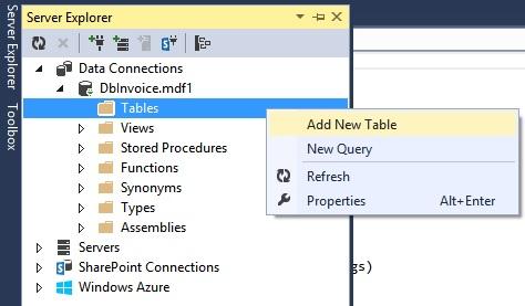 Vytvoření nové databázové tabulky