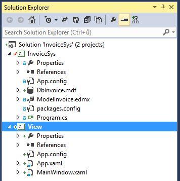 Nastavení reference uC# .NET projektu